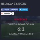 Cuiavia - Zawisza  6-1