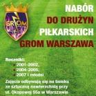 Nabór do drużyn piłkarskich Grom Warszawa!