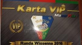 Kup Kartę VIP i wspomóż KS MAZUR PISZ !