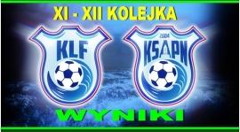 Wyniki XI I XII  kolejki KLF 2015/2016
