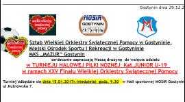 Zaproszenie na turniej z okazji 25. Finału WOŚP