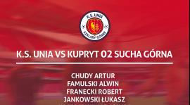 Kadra na mecz o mistrzostwo klasy B grupy 2 przeciwko drużynie Kupryt 02 Sucha Górna