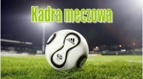 Kadra na mecz z GKS Żukowo