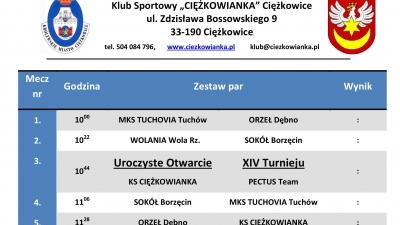 XIV Halowy Turniej Piłki Nożnej - Ciężkowice 2017 - TERMINARZ