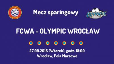 Sparing z Olympic Wrocław (27.09.2016)