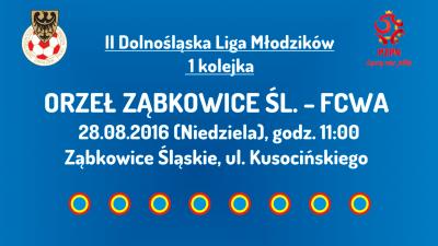 II Dolnośląska Liga Młodzików - 1 kolejka (28.08.2016)