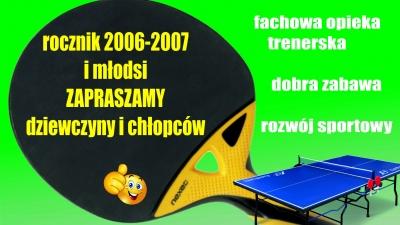 Nabór do sekcji tenisa stołowego