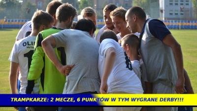 TRAMPKARZE: 2 mecze, 6 punktów w tym wygrane derby !!!
