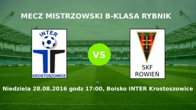 Zapowiedź meczu Inter Krostoszowice - SKF Rowień