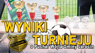 Wyniki Turnieju o Puchar Wójta Gminy Jarocin 2016.