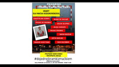 """Mazur weźmie udział w turnieju """"DO JEDNEJ BRAMKI Z MAĆKIEM"""""""