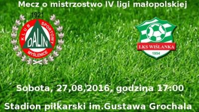 Dalin Myślenice - Wiślanka Grabie sobota 27.08.2016, godzina 17:00