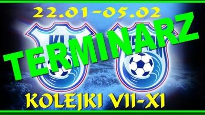 TERMINARZ KOLEJEK VII -XI - 22.01.-05.02