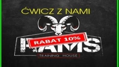 ĆWICZ 10% RABATEM Z RAMS TRAINING HOUSE
