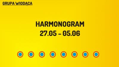 (W) Harmonogram 27.05-05.06.2016