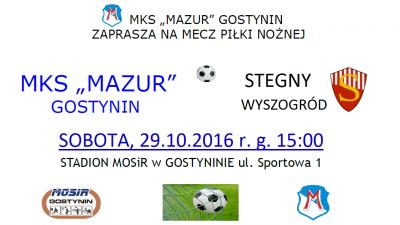 Zaproszenie na mecz z Wyszogrodem