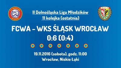 II Dolnośląska Liga Młodzików - 11 kolejka (19.11.2016)