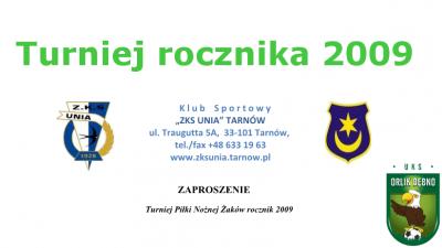 Kadra rocznika 2009 na turniej w Tarnowie