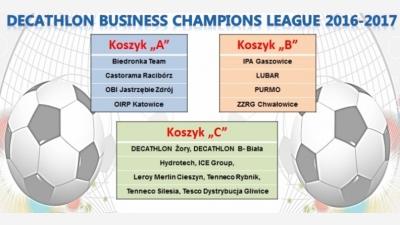 DECATHLON Business Champions League 2016-2017.... podział drużyn na koszyki
