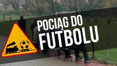 """""""Pociąg do futbolu"""" na meczu Polonia-Centrum"""