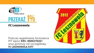 Przekaż 1% na Stowarzyszenie Miłośników Piłki Nożnej FC Lesznowola