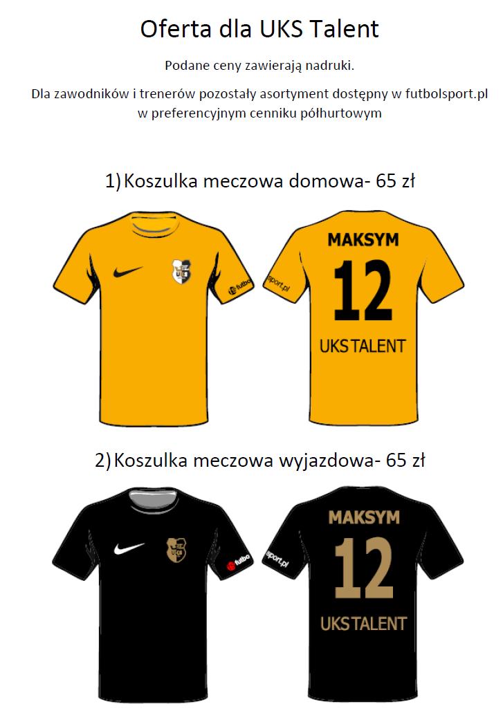 773cfd8a1 STRÓJ MECZOWY - UKS Talent Poznań