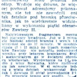 """Artykuł z  """"Żołnierza Polski Ludowej""""- 14.08. 1959 o meczu z 12.08.1959 - ciąg dalszy."""