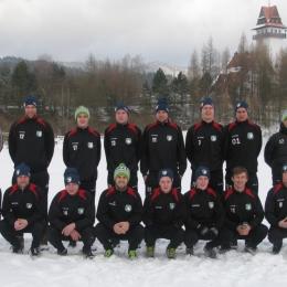 Obóz zimowy pierwszej drużyny w Maniowach