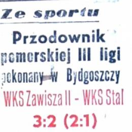 """Artykuł z  """"Żołnierza Polski Ludowej"""" - 14.08. 1959 o meczu z 12.08.1959. Zawisza II - Stal Włocławek."""