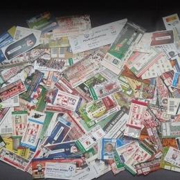 Kolekcja biletów ŁKS-u Łomża