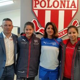 Trening reprezentacji Szwajcarii U-17 kobiet na stadionie Polonii