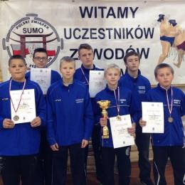 Puchar Polski Młodzików i Kadetów w Sumo 9-10.10.2015