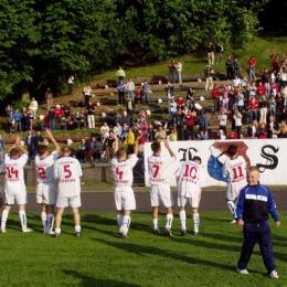 Radość po awansie do ligi okręgowej, czerwiec 2005 rok