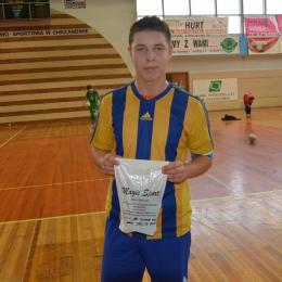 MVP meczu SChLF - GSF Gliwice Jakub Jochymek (SChLF)