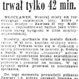 """""""Gazeta Pomorska"""" z 08.08.1966 o meczu z 07.08.1966 o wejście do III ligi: Kujawiak Włocławek - Zawisza II."""