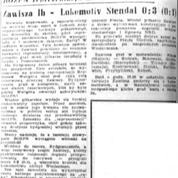 """""""Ilustrowany Kurier Polski"""" (22.07.1969) o meczu z 21.07.1969: Zawisza II - Lokomotive Stendal 0:3."""