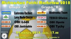 """Podział grup - """"Mistrzostwa Polski Marketów 2018"""" - wyniki losowania"""