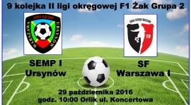 Wideorelacja z meczu KS Semp I - SF Warszawa I.