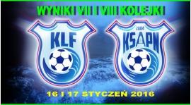 Wyniki VII  I VIII kolejki KLF 2015/2016
