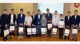 Młodziki Okocimskiego nagrodzeni przez burmistrza Brzeska