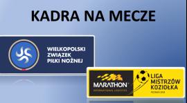 Kadra na mecze ligi WZPN - Aktualizacja