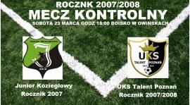 Sparing rocznika 2007/2008 w Owińskach
