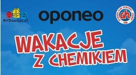 Plakat Oponeo Wakacji z Chemikiem 2017