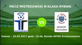 Zapowiedź meczu Inter Krostoszowice - Jedność Rogoźna