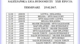 Termin ligi salezjańskiej w Bydgoszczy 25.02.2017 r.