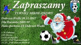 Żaki rozegrają turniej Mikołajkowy w Dobrzeniu Wielkim