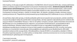 Regulamin KS Lublinianka - Sezon 2018/2019