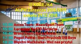 III Kolejka- sobota 29.12.2018