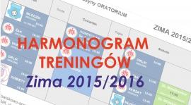 Harmonogram treningów - ZIMA 2015/2016