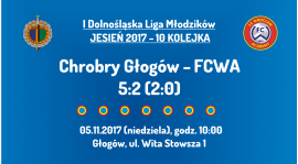 I DLM 10 kolejka: Chrobry Głogów - FCWA (05.11.2017)